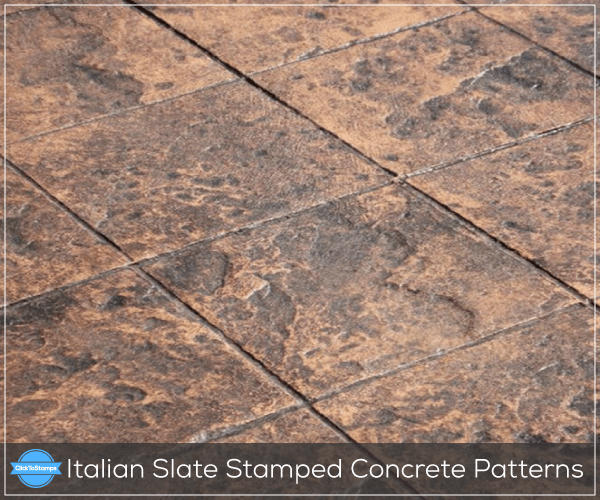Italian Slate Stamped Concrete Patterns