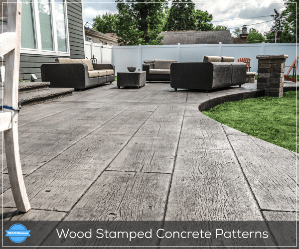 Wood Stamped Concrete Patterns